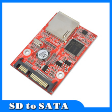 """Buy New SD SDHC MMC Card 7+15 SATA 2.5"""" HDD Secure Converter Adapter Windows DOS 98 XP 7 8 Vista Linux for $7.27 in AliExpress store"""