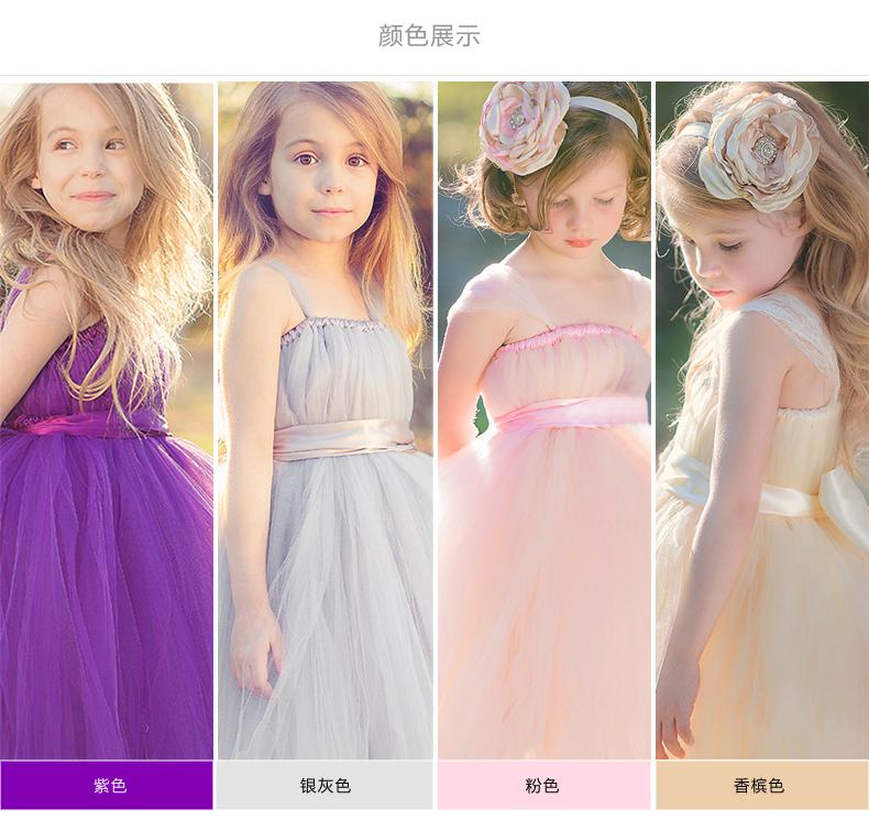 2017 Brand New Flower Girl Dresses White/Ivory Real Party Pageant Communion Dress Little Girls Kids/Children Dress for Wedding