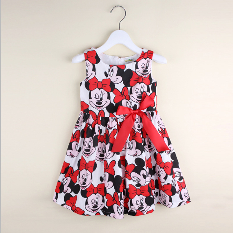 New fashion baby girls kids minnie Mouse princess dress for party costume For girls dresses children clothing Rapunzel clothes(China (Mainland))