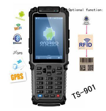 android rfid handheld mobile rugged pda barcode scanner TS-901(China (Mainland))