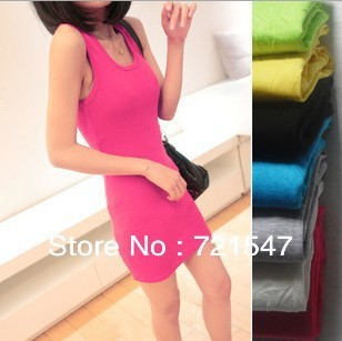 Essential wardrobe!2013 Made of pure cotton O-Neck  colorful  dress