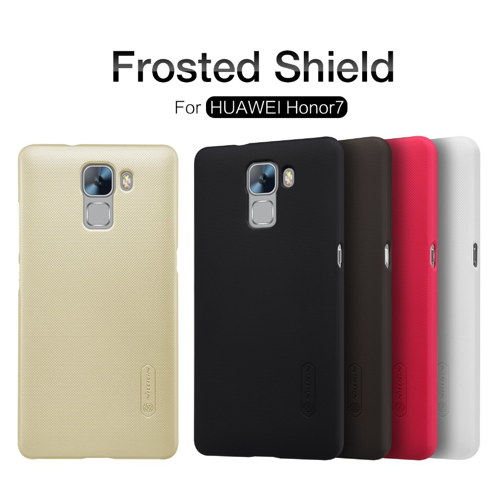 Huawei Honor 7 case cover NILLKIN Super Frosted Shield case for Huawei Honor 7 + free screen protector and Retail package(China (Mainland))