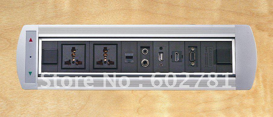 Фотография Desktop socket Universal power*2+RJ45*2 +audio+USB+HDMI+VGA