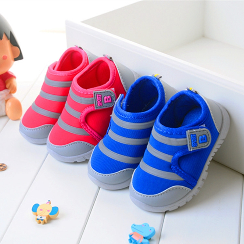 B&D Red/Blue Baby Soft Sole Shoes Children Kids Brand Sneakers 2016 Spring Fashion Sport Shoes For Girls Boys Casual Shoes US3~8(China (Mainland))