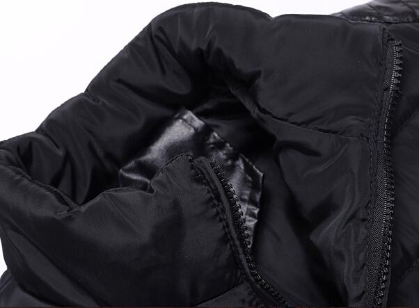 Hot sale winter jacket men 2015 fashion solid stand collar jackets coats casual winter coat men