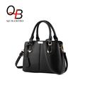 QUBABOBO New Designer Women Handbag Solid Color Ladies PU Leather Quality Messenger Bags Zip Side Shoulder