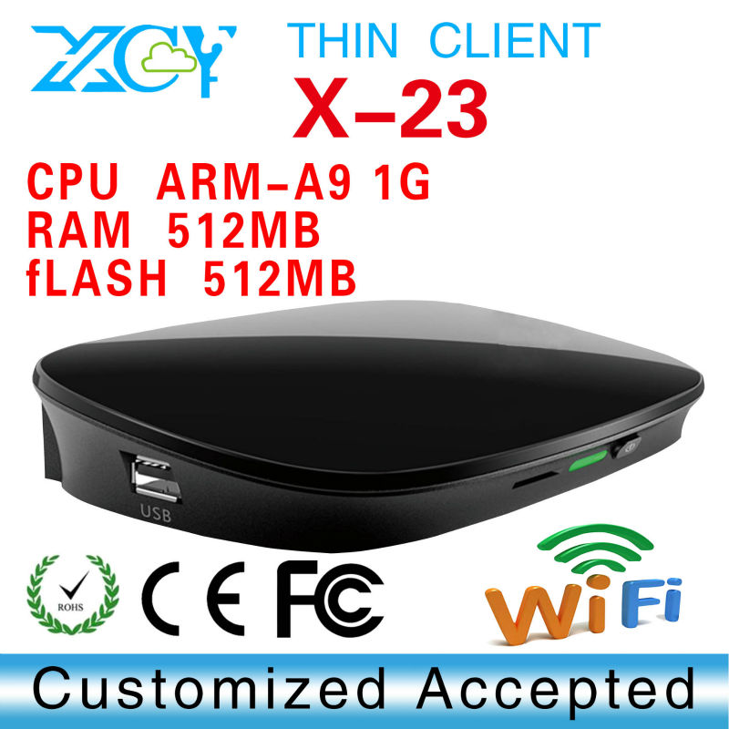 New Cloud Terminals Mini PC Station Thin Client XCY X-23 Computer Sharing Built-in Embedded linux 2.6 OS(China (Mainland))