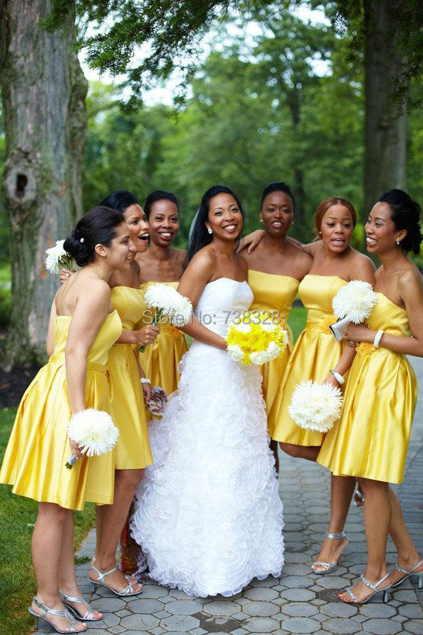 Yellow Bridal Party Dresses 45
