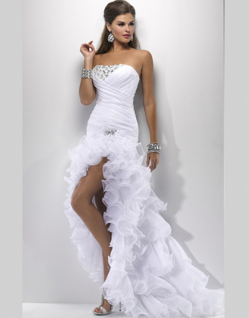 Sexy white wedding gowns elegant wedding dresses short for Wedding dress for a short bride