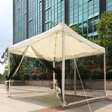 US Stock IKAYAA 3*3*2.6M Folding Outdoor Garden Canopy Gazebo Pop Up Party Wedding Camping Tent Marquee Pavilion with Sidewall(China (Mainland))
