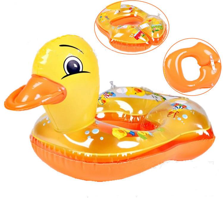 Kids summer cartoon ducky swim ring baby girls and boys pool float water ring cute swimming laps free shipping(China (Mainland))