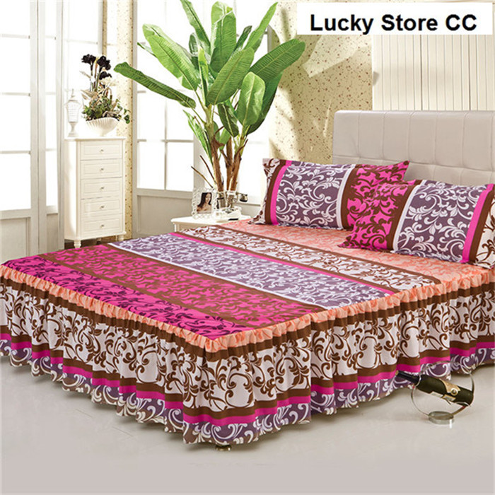 Home Textile Bed Skirt Set Bedspread Bedclothes Bed Cover