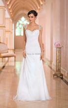 Buy 2017 New Beach Wedding Dresses Gown Appliqued Beaded Sexy Backless Chiffon Floor Length Stock vestidos de noiva Fast for $89.00 in AliExpress store