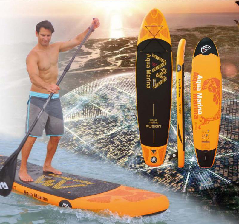 330*75*15cm AQUA MARINA 11 feet FUSION inflatable sup board stand up paddle board inflatable surf board surfboard upgraded SPK3(China (Mainland))