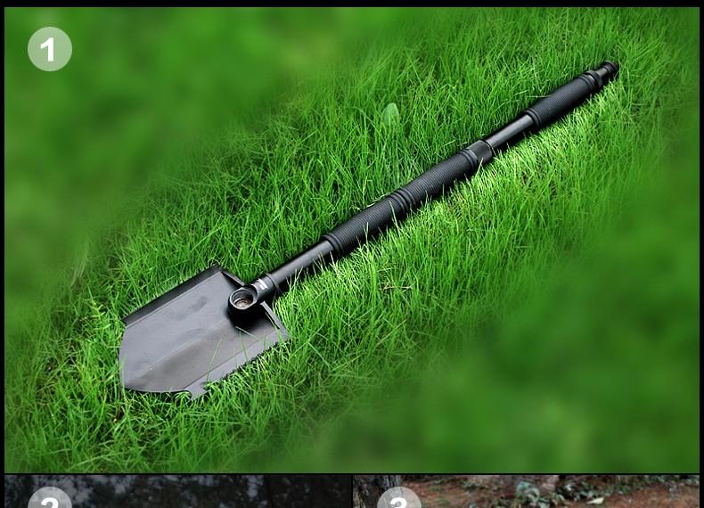 Buy TANLOOK Camping Folding shovel survival tool outdoor lighting self-defense knife Snow shovel hunting supervivencia pala plegable cheap