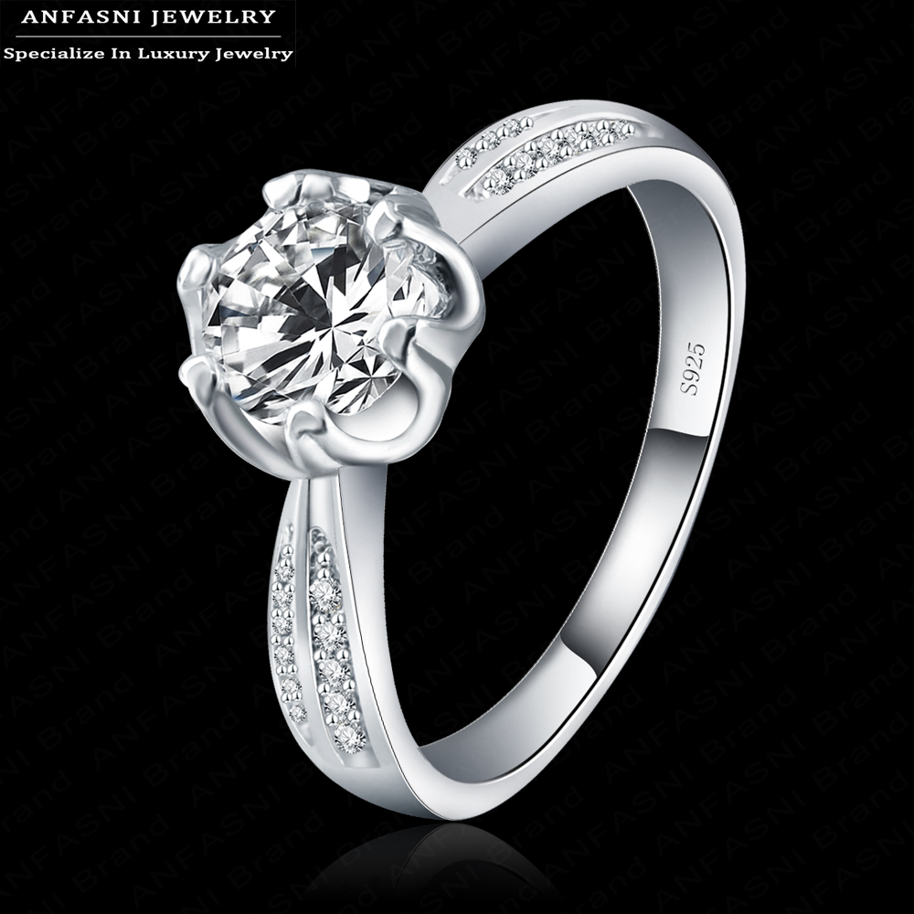 S925 2015 Fine Brilliant Rings for Women Wedding Jewelry Cubic Zirconia Inlayed Engagement Rings Bijoux Women Bagues BRI0134-B(China (Mainland))