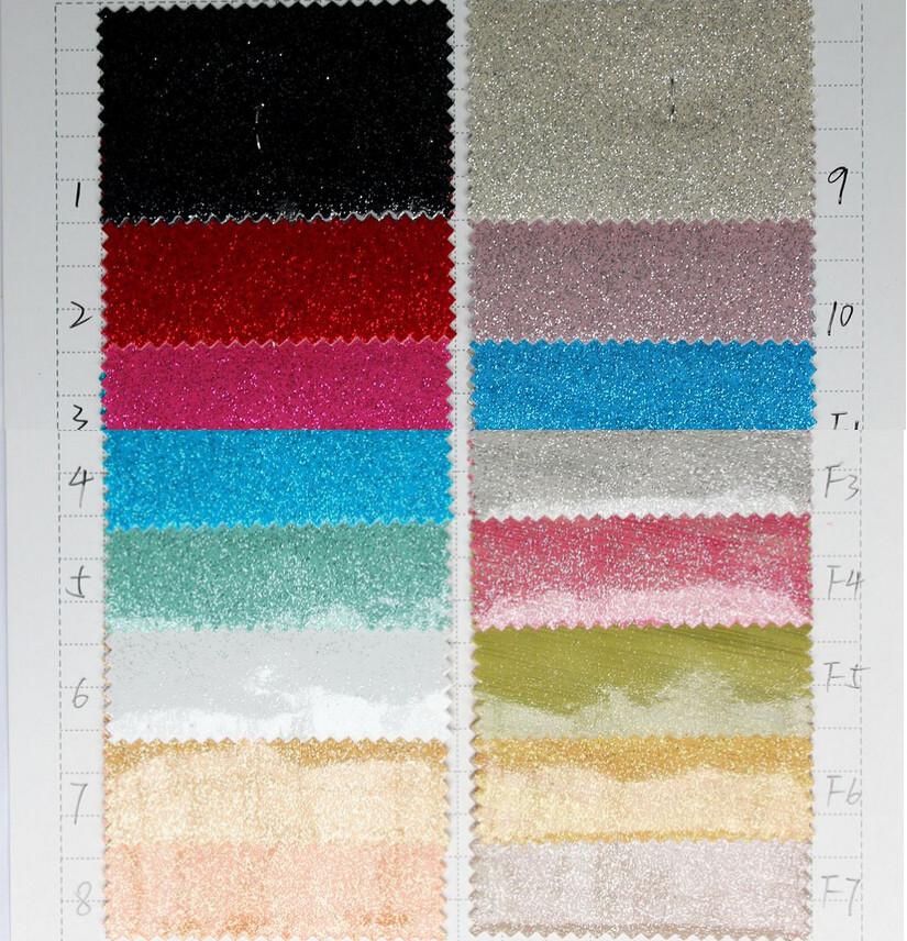 quality fashion silver sand glossy leather/ vinyl fabric pattern wallpaper/ wholesale glitter pu fabric/ glitter fabric(China (Mainland))