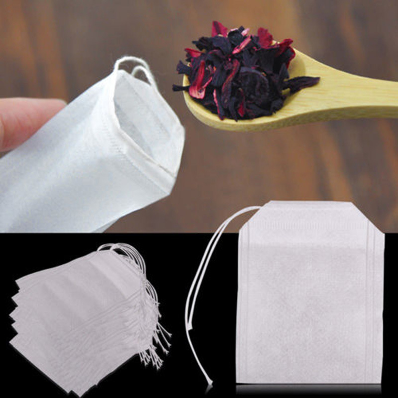 100Pcs/Lot Teabags Empty Scented Filter Paper For Herb Loose Tea Herb Plant Spice Medicine Powder Bags Tea Drink Ware KC1426(China (Mainland))