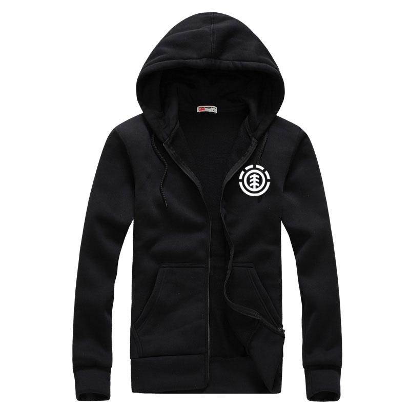 2016 cardigan Men Hip Hop Skateboard Hoodies Sweatshirt Element personalized Sports Coat Cotton Hoodies(China (Mainland))