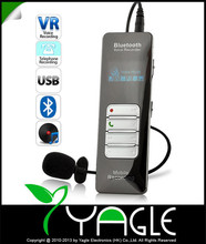Professional Grade 4GB Wireless Bluetooth Voice & Call Recorder for Mobile Cellphone USB Digital Voice Recorder Mp3 Player(China (Mainland))