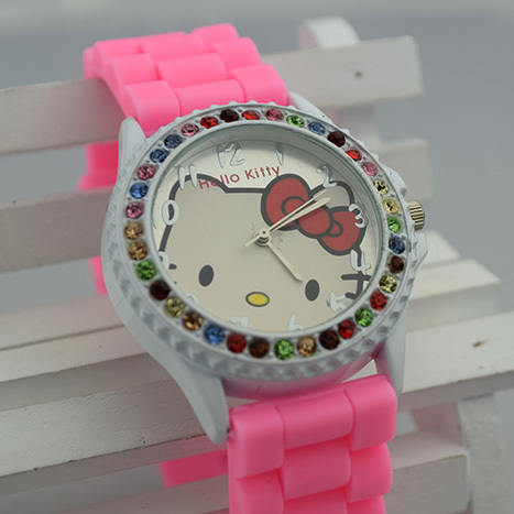 Kids Cartoon Watches Rubber Cute Hello Kitty Watch Silicone Wristwatches Children Automatic Montre Quartz watch Casual Coupon - Shenzhen Times Co., Ltd. store
