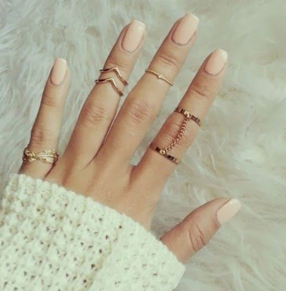 2015 New fashion Shiny Punk style Gold plated midi Finger Knuckle rings Charm Leaf Ring Set