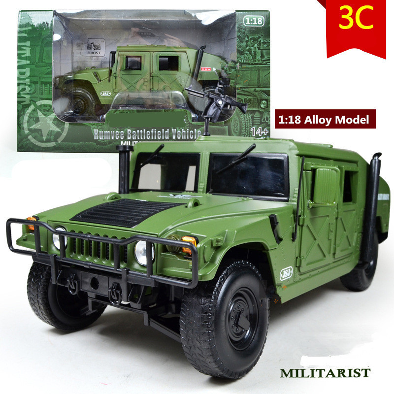 High quality 1:18 Alloy Military Model,Diecast toys,Metal Humvee,High-end model, military collection, Hummer car,free shipping(China (Mainland))