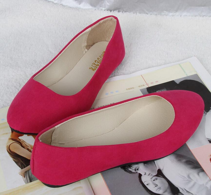 20 цветов 2016 мода Мягкая обувь для женщин плоские туфли круглого toe ежедневные повседневная обувь Плюс Размер FB0048
