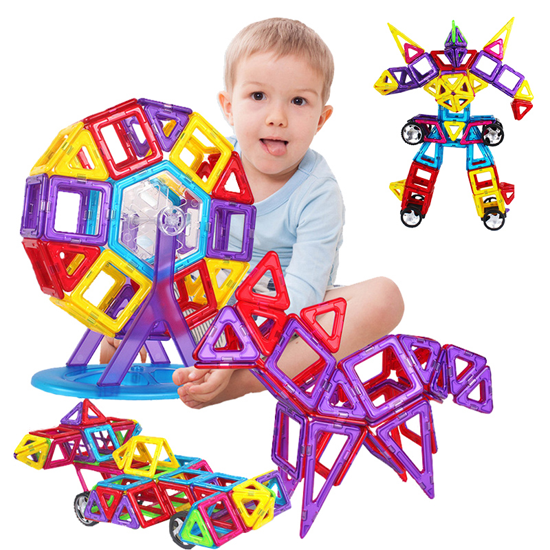 Magformers 78 Pieces Childrens Educational Toys 3D DIY Magnetic Toy Plastic Building Blocks Kids Block Toys New<br><br>Aliexpress