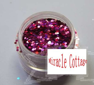 Free shpping! (5packs/lot) best sell 1/24=1.0mm polycrystalline powder,laser peach red,flash powder,glitter powder