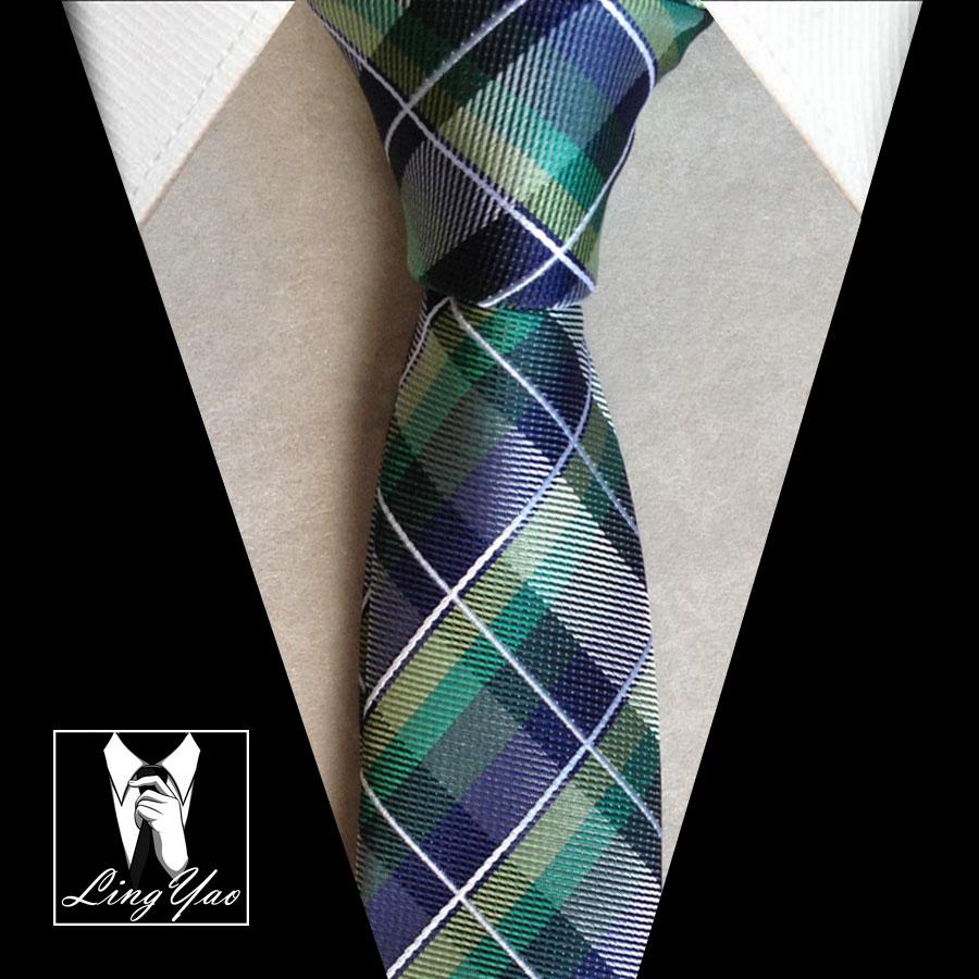 Classic plaids ties Green font b chequer b font lattices gravata