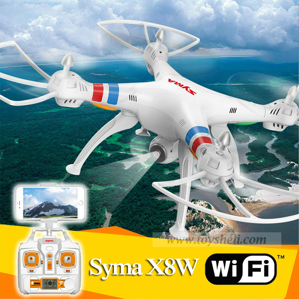 Syma X8w Wifi 2.4G 4ch 6 Axis with 2MP Wide Angle HD Camera RC Quadcopter RTF Helicopter Drone Go Pro Applicable(China (Mainland))