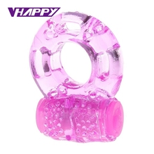 Crystal vibration ring Male essence Vibrating Cock Ring Penis Rings Clit Vibrator Adult Sex Toys For men Sex Products Vibrator