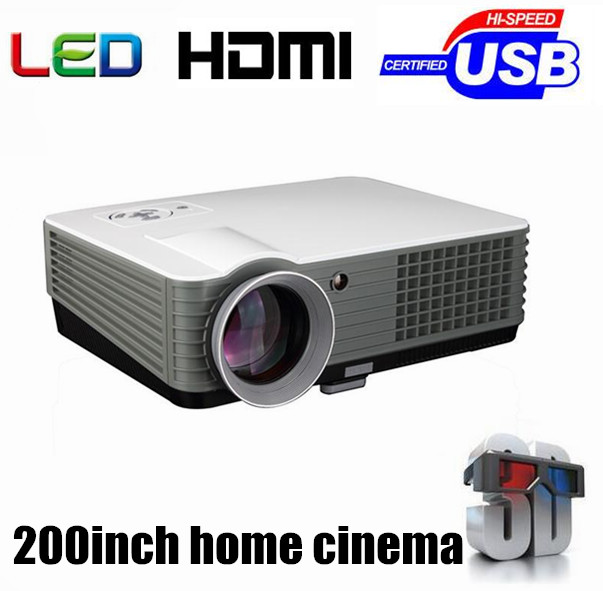 Brand New! Best 2000 lumens LED HD Home Theater 3D Portable Projector With 2HDMI+2USB+Analog TV Tuner(China (Mainland))