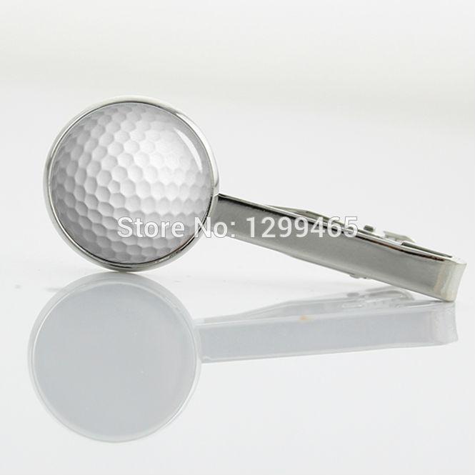 Formal Wear Men Necktie Tie Clip New Elegant Design golf ball Tie Pins Novelty Interesting sports Golfer Tie Clips T 686(China (Mainland))