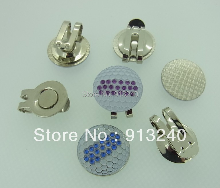 100 pieces brand new ladies cheap crystal golf ball markers(China (Mainland))