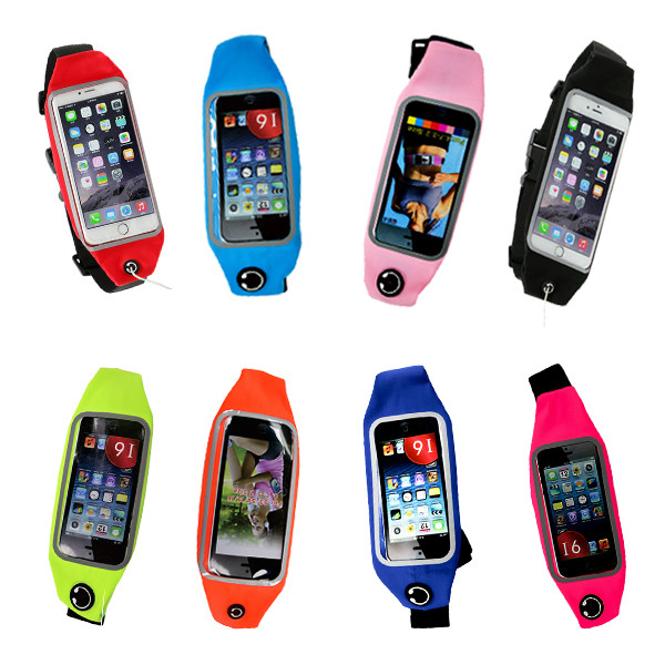 Sport Accessories Phone bag Waterproof mobile Phone Gym Waist Bag Running Wallet Phone Pouch For iphone 7 6S Plus Samsung Xiaomi