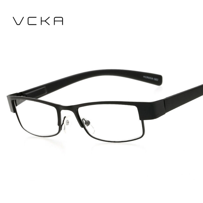 cheap frames for glasses 6u80  VCKA Square Frame Reading Metal frames Eyeglasses Prescription Glasses Men  Women Business Far Sight Eyewear oculo
