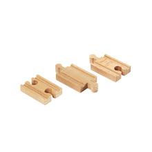 Tomas de madera Bump vía del tren de madera de haya ferrocarril trian slot head juguetes para los niños