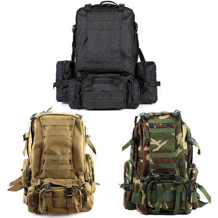 50L Molle Assault Tactical Outdoor Military Rucksacks Backpack Camping Bag black - Shenzhen Zerospace Technology Ltd. store