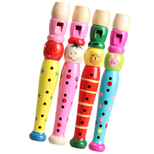 Wooden Plastic Kid Piccolo Flute Musical Instrument Early Education Toy NVP