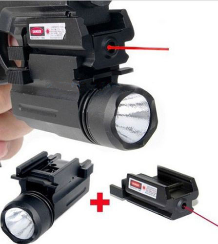 2in1 Red Dot Laser Sight+ LED Flashlight Torch For Pistol GLOCK17 19 20 21 22 23 30 31 Free Shipping(China (Mainland))