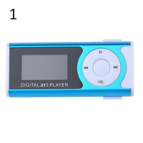New Arrival Unique Mini USB Clip MP3 Media Player LCD Screen Support 16GB Micro SD TF
