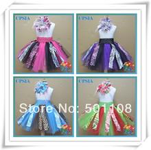 2014 new design lovely fashion printed  razzel b'dazzeled stylish skirt matched feather headband set for baby many styles(China (Mainland))