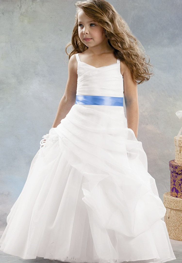 2015 white organza flower girl dresses for weddings for Girls dresses for a wedding