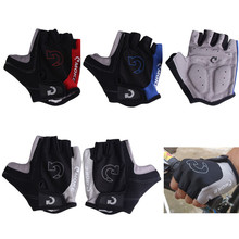 Cool Unisex Cycling Gloves Men Sports Half Finger Anti Slip Bike Gloves With GEL Breathable Pads S-XL 3 Colors Bicycle Gloves(China (Mainland))