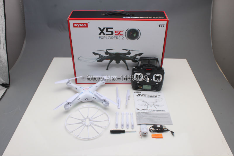 New Listing Syma x5sc Black and White 2 4G 4CH 6 Axis 2MP Professional aerial RC