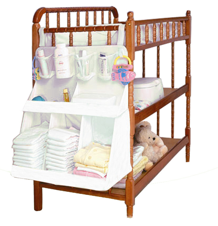Baby Bedding Accessories Baby Bed Hanging Bag Diapers Organizer Waterproof Portable Storage Bedding Set Large Szie 63*48cm(China (Mainland))