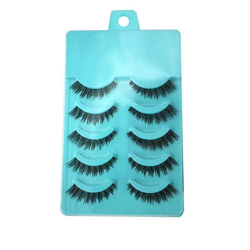 5Pair Women Cross Natural False Eyelashes Soft Long Fake Eye Lashes Eyelash Extension Makeup Beauty Tools Fake Lashes Maquiagem(China (Mainland))