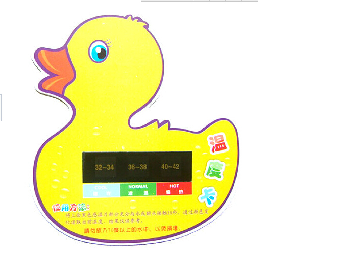 Little duck baby bath water thermometer baby bath water temperature card newborn thermometer(China (Mainland))